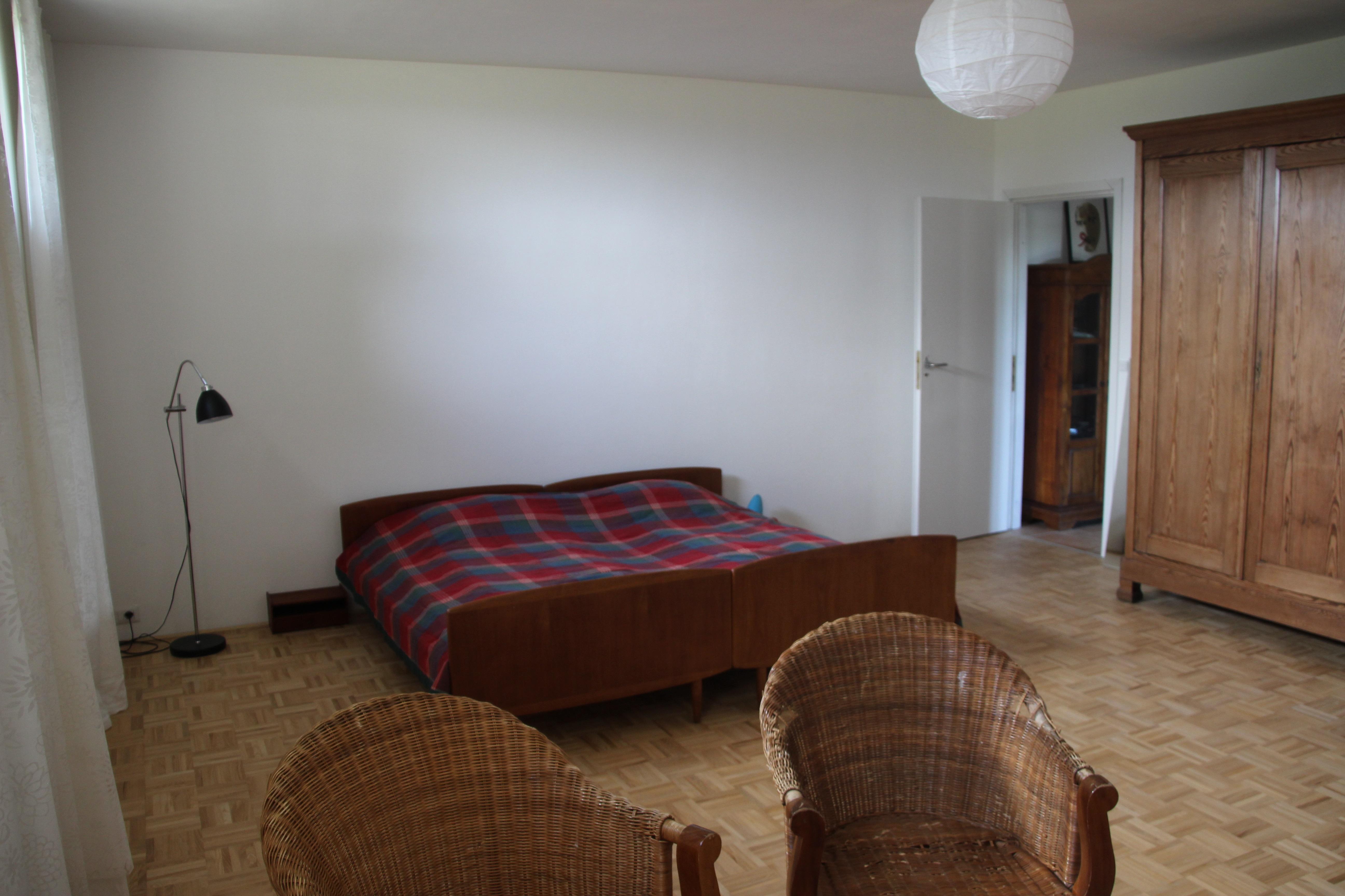 Soveværelse i nederste sydlige hjørne af huset